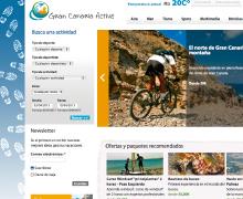 Desarrollo gráfico de la web Gran Canaria Active