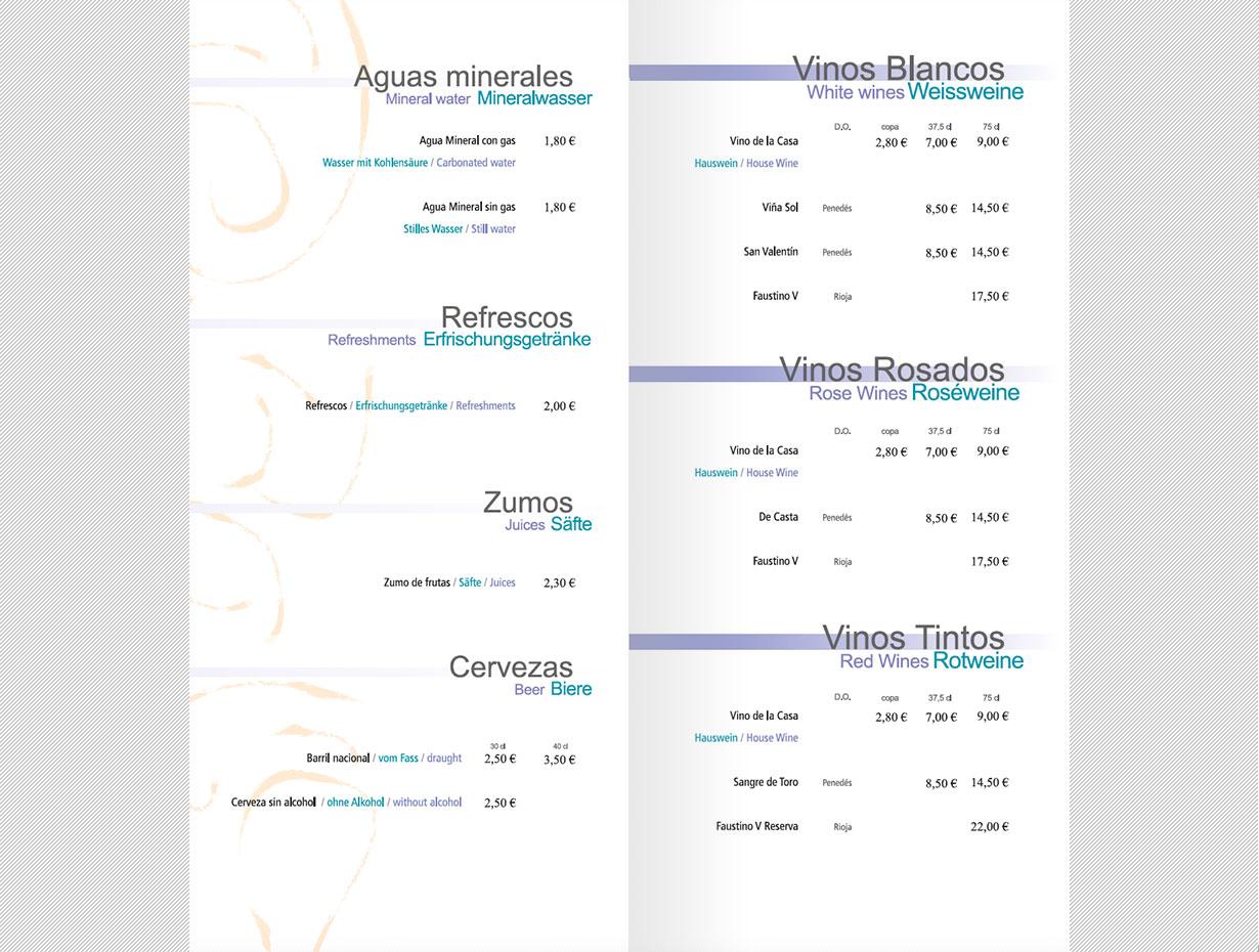Diseño Editorial Menús Hoteles