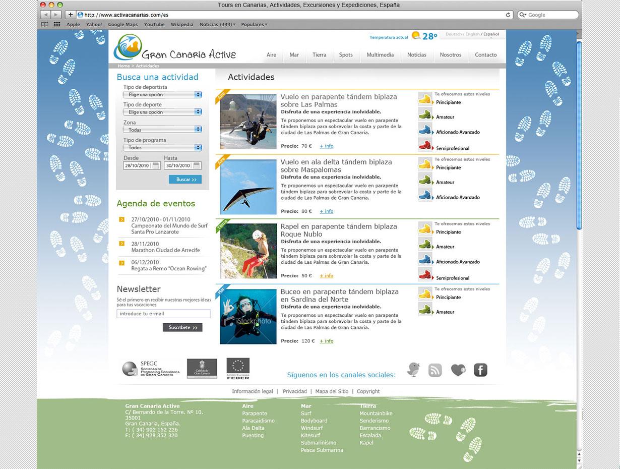 Diseño UX Gran Canaria Active
