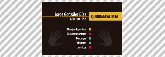 Tarjetas de visita Quiropráctico