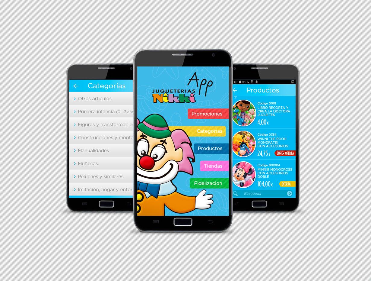 Diseño UX App Jugueterías Nikki