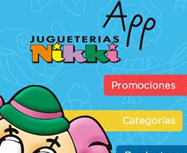 App Jugueterías Nikki